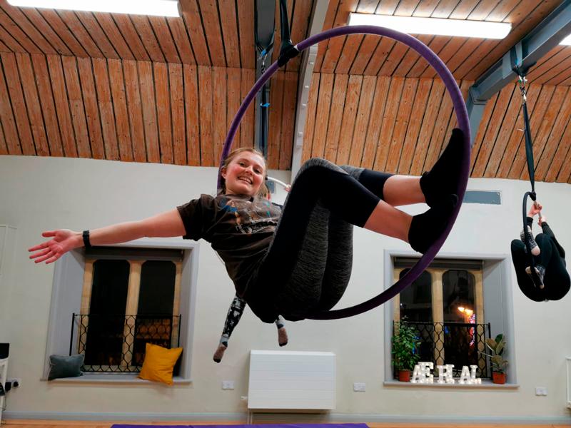 Cirque De Silk Aerial Hoop Class