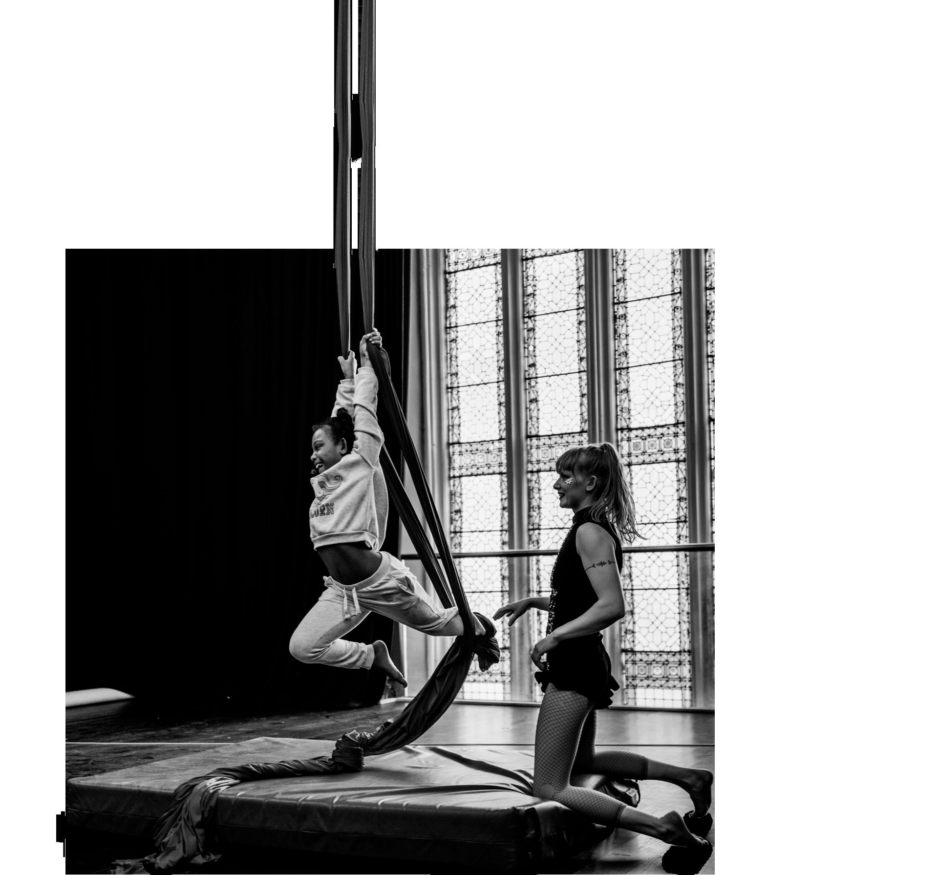 Cirque De Silk Teacher and Student