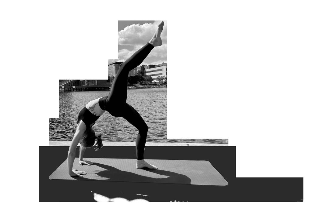 Cirque De Silk Yoga teacher in pose